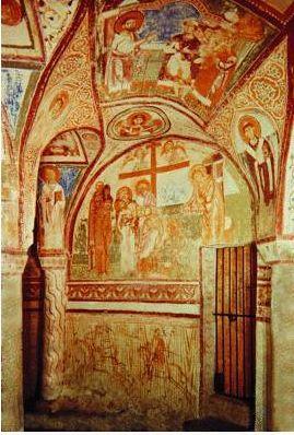 Фрески в крипте соборной базилики в Аквилее. Кон. XII в.
