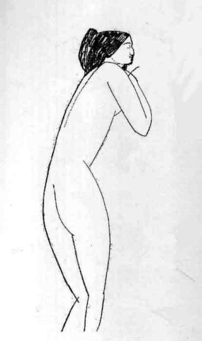 А.Модильяни Обнаженная (Анна Ахматова) 1911 г