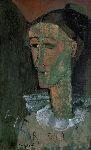 А.Модильяни Автопортрет в образе Пьеро 1915 г