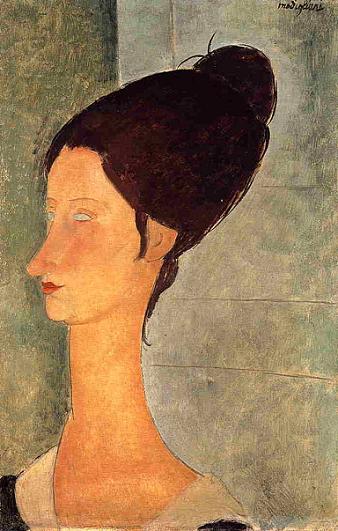 Портрет Жанны Эбютерн 1918 г