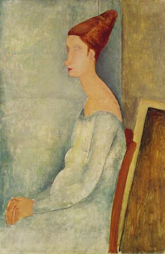 Портрет Жанны Эбютерн в профиль 1918 г