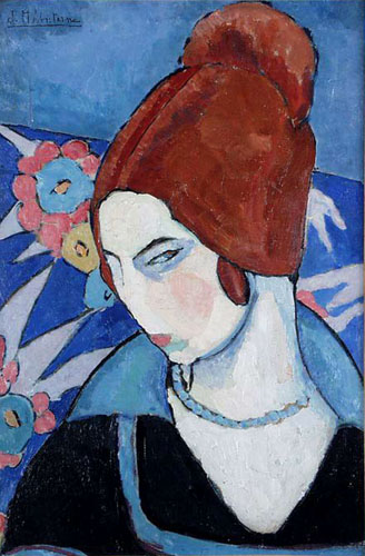 Жанна Эбютерн Автопортрет 1916 г